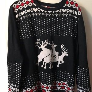 Sweaters - ADULT sexual reindeer threesome holiday sweater